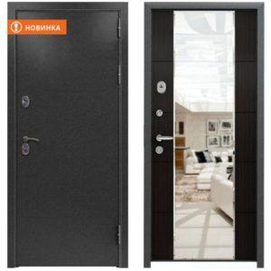 Входная дверь Страж 3К Mirror повышенная шумоизоляция (меланж тёмный)