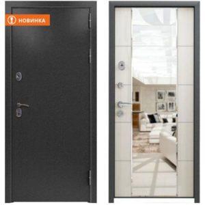 Входная дверь Страж 3К Mirror повышенная шумоизоляция (меланж светлый)
