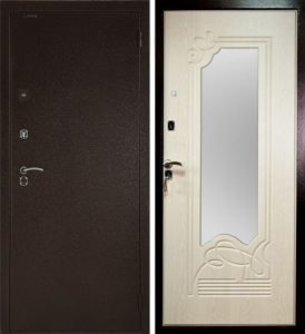Дверь входная Страж 2К Ольга беленый дуб