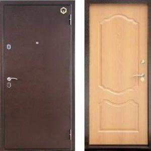 Двери входные Бульдорс 33 С Светлый орех
