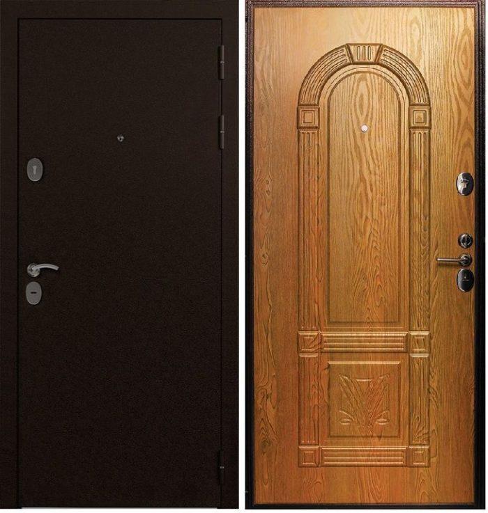 Двери входные GD 3D повышенной шумоизоляции (миланский орех)