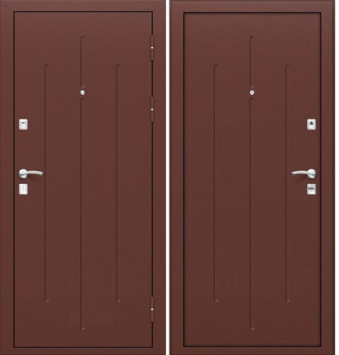 Дверь входная строительная ГОСТ 7.2 (металл-металл)