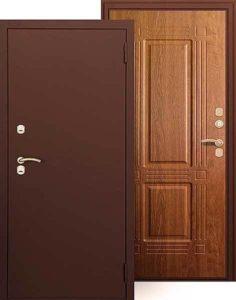 Входная дверь АРГУС Тепло Триумф Дуб янтарный