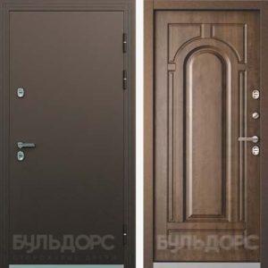 Уличная дверь БУЛЬДОРС TERMO-2 TB-1.2 Грецкий орех