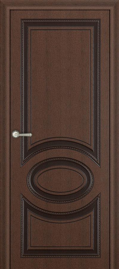 Межкомнатная дверь Carda Неаполь ясень коричневый