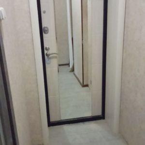 Дверь входная страж 3 К mirror с зеркалом меландж светлый