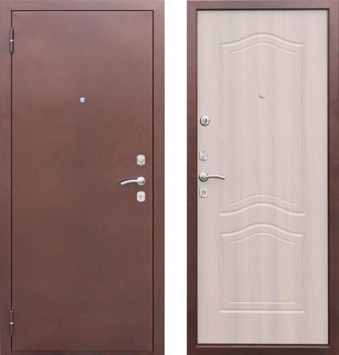 Входная дверь стальная «Страж» 2-К GD 1512 (белёный дуб)