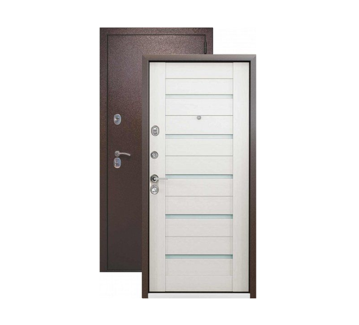 Входная дверь СТРАЖ 3К Techno техно (белёный венге)