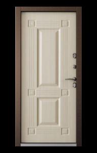 уличная дверь бульдорс термо-1 тв 2 дуб крем с терморазрывом