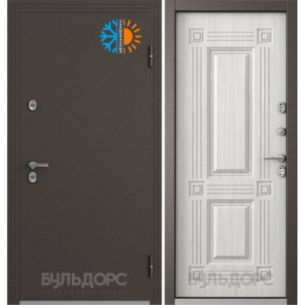 Уличная дверь бульдорс termo-1 дуб крем с терморазрывом