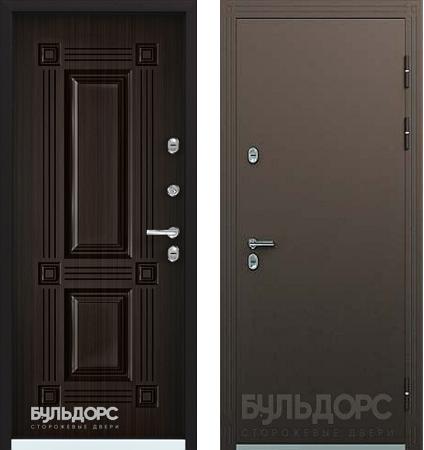 Уличная дверь БУЛЬДОРС TERMO-1 TB-2 конго венге с терморазрывом