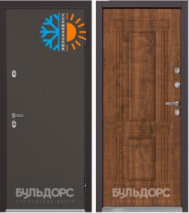 Уличная дверь БУЛЬДОРС TERMO-1 TB-2 дуб медовый с терморазрывом
