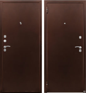 Дверь входная Страж 3К металл металл. Уличный вариант