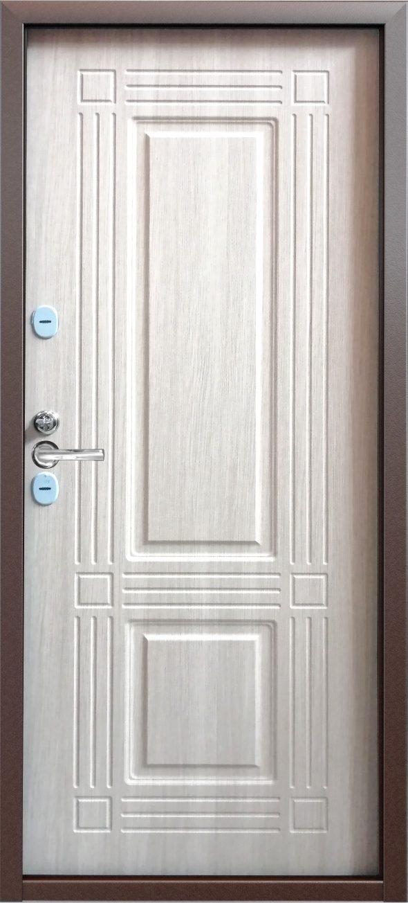 Дверь входная с терморазрывом Страж 3 к тепло дуб седой
