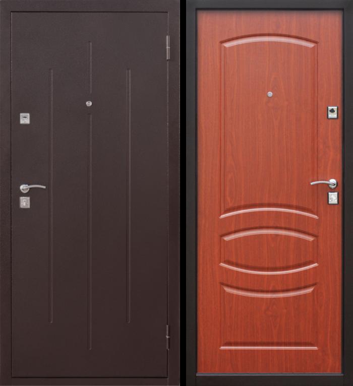 Дверь входная стройгост 7-2 итальянский орех