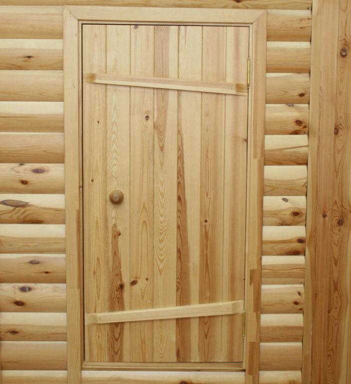 Двери из массива для бани и сауны
