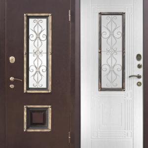 Двери входные Венеция дуб беленый