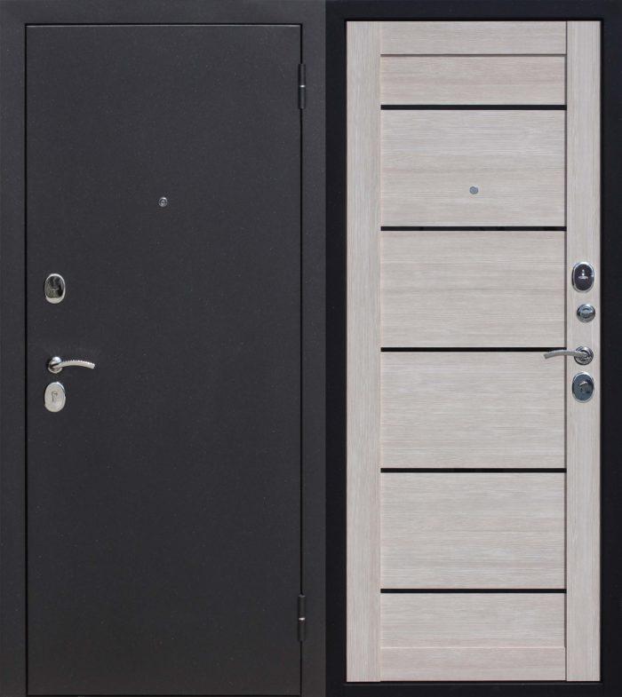 Двери входные Гарда Муар Царга лиственница мокко