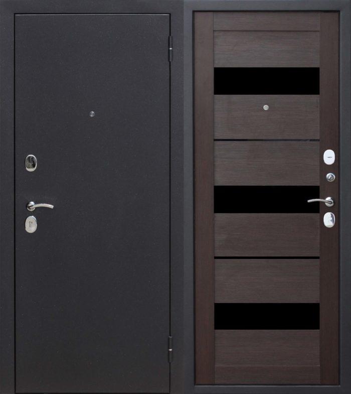 Двери входные Гарда Муар Царга темный кипарис