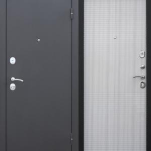 Двери входные Гарда Муар 7,5 белый ясень