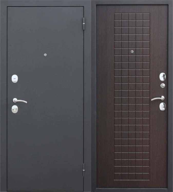 Двери входные Гарда Муар 8 мм венге