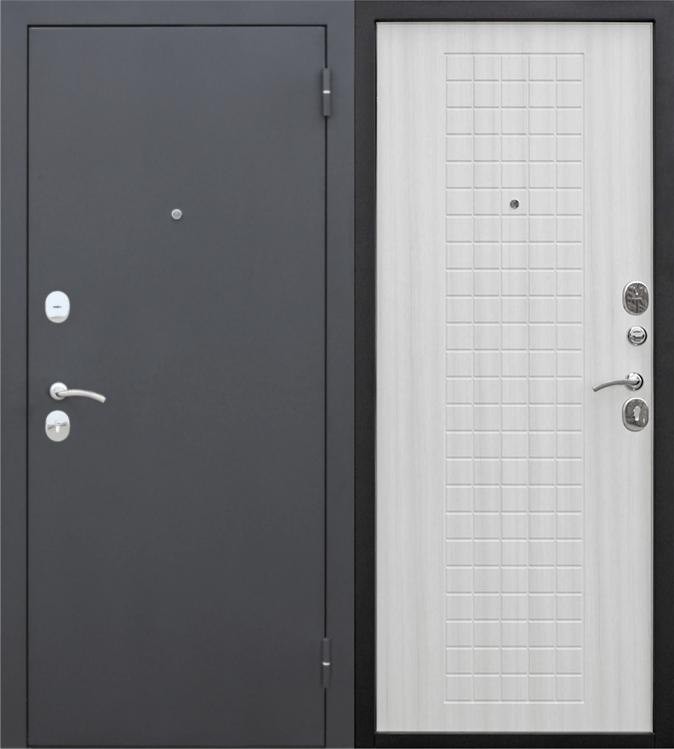 Двери входные Гарда Муар 8 мм ясень снежный