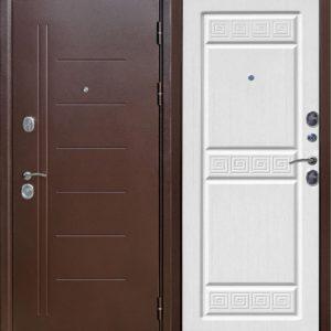 Двери входные Троя Медный антик 10 см белый ясень