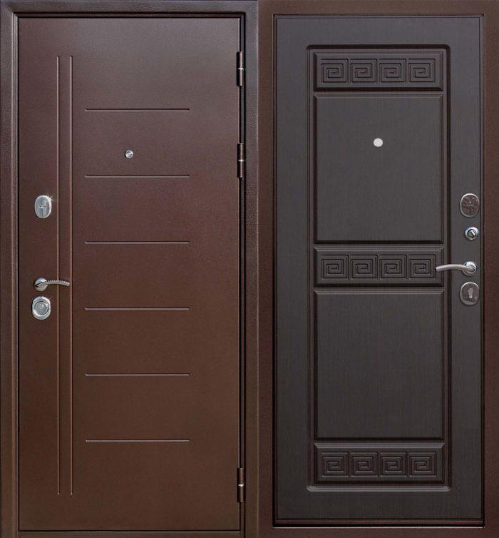 Двери входные Троя Медный антик 10 см венге