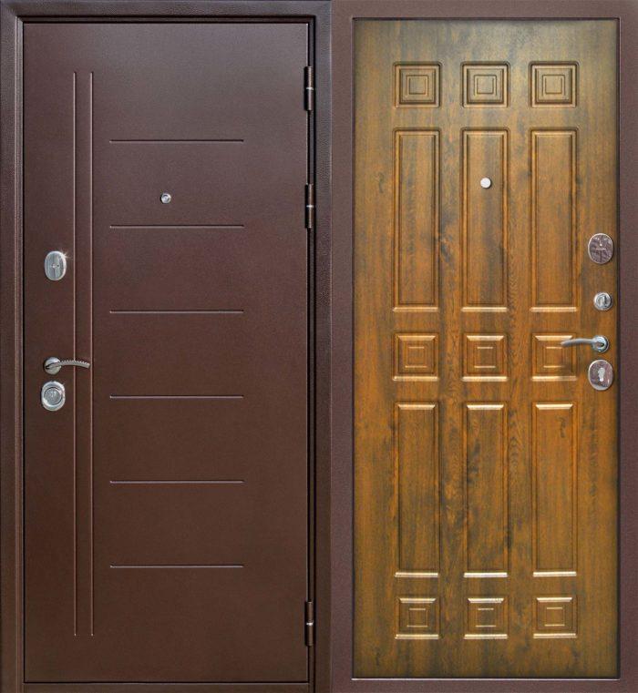 Двери входные Троя Медный антик