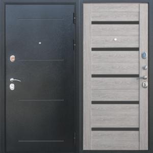 Двери входные Троя Серебро 10 см дымчатый дуб