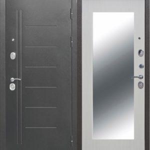 Двери входные Троя MAXI Зеркало белый ясень