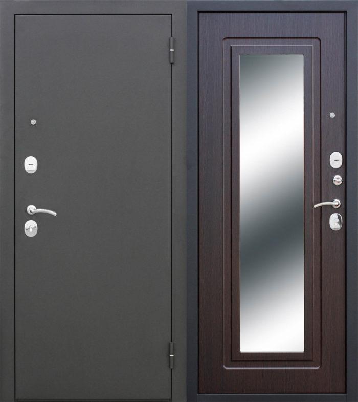 Двери входные Царское зеркало Муар венге