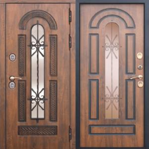Двери входные Vikont с терморазрывом грецкий орех
