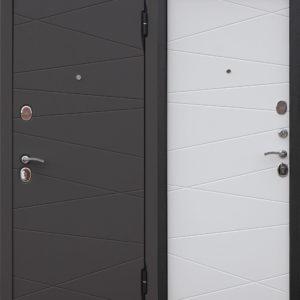 Дверь входная Верона сатин коричневый сатин белый